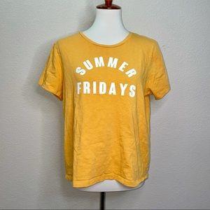 J. Crew Factory Summer Fridays Yellow T-Shirt XL